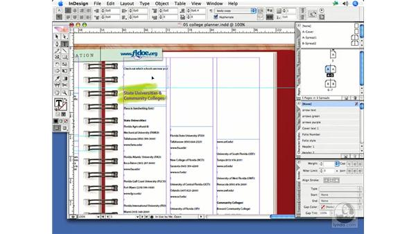 Applying styles: InDesign CS2 Print Project Workflow
