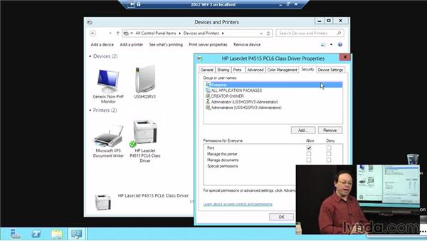 Windows Server 2012 as a network print server: Windows Server 2012 Active Directory: File System and Storage