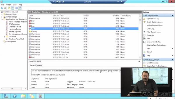 DFS troubleshooting: Windows Server 2012 Active Directory: File System and Storage