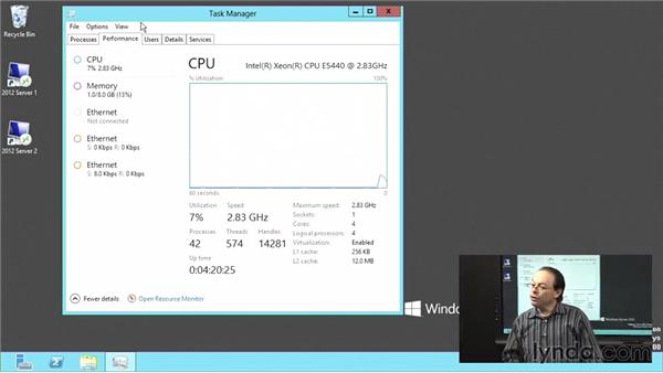 Using the Task Manager in Windows Server 2012: Windows Server 2012 Active Directory: File System and Storage