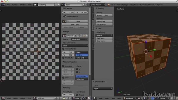 Seams and stretching: Blender UV Mapping