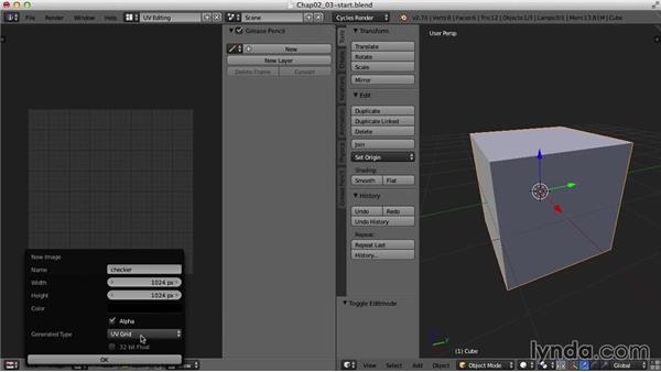 Setting up the user interface: Blender UV Mapping
