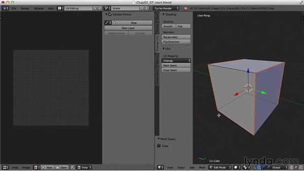 Mark Seam and Unwrap: Blender UV Mapping
