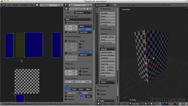 Stitching UVs: Blender UV Mapping