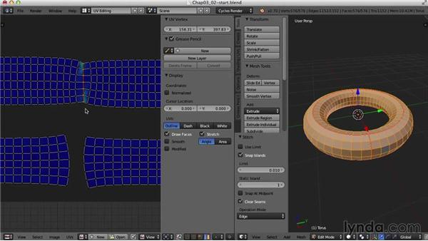 Weld/Align and Minimize Stretch: Blender UV Mapping