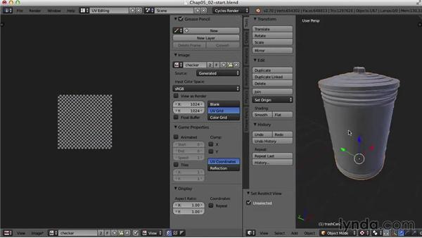 The trash cans: Blender UV Mapping
