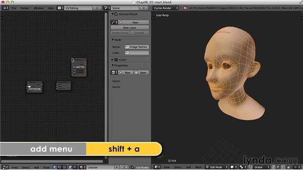 The head: Blender UV Mapping