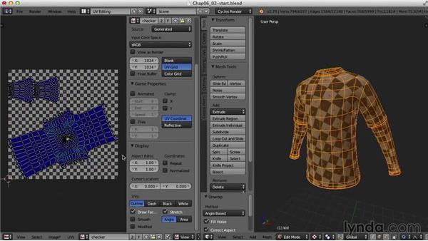 The shirt: Blender UV Mapping