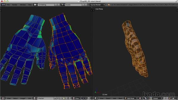 The hands: Blender UV Mapping