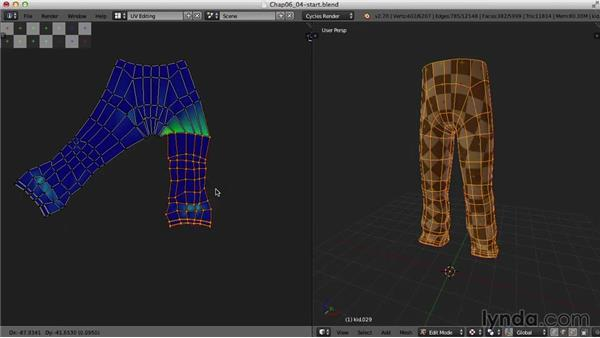 The pants: Blender UV Mapping
