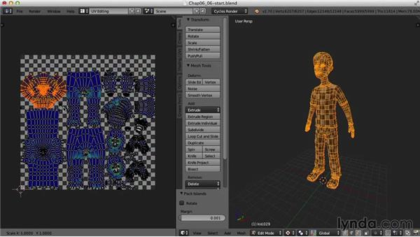 Finalizing the UV map: Blender UV Mapping