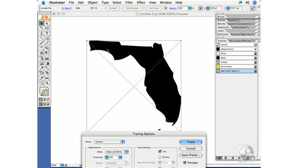 Converting bitmaps to vectors with Live Trace: InDesign CS2 Print Project Workflow