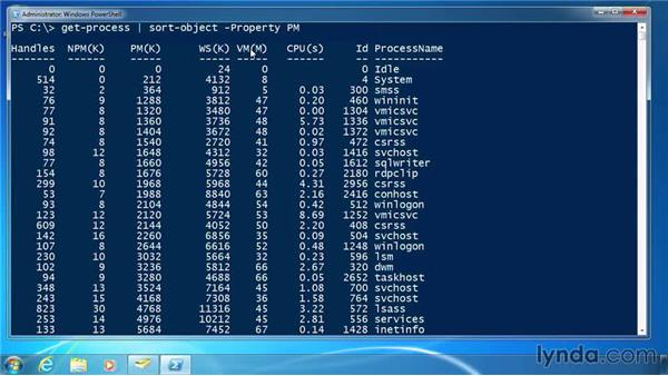 Sort objects: PowerShell 3.0 for Administrators
