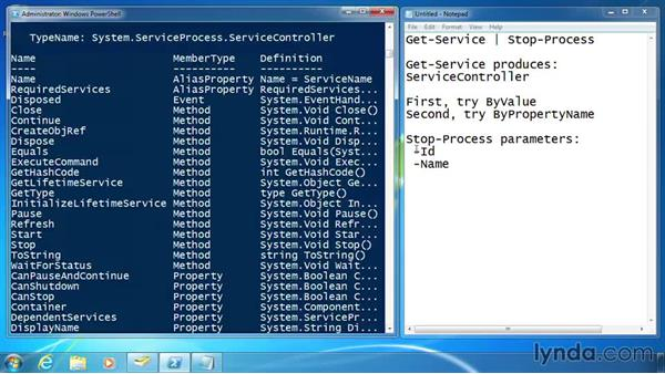 Use pipeline input: ByPropertyName: PowerShell 3.0 for Administrators