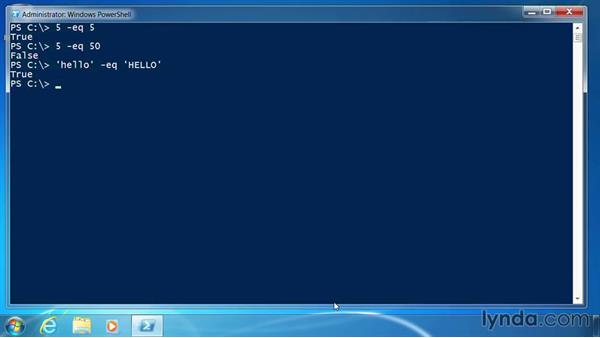 Use PowerShell comparison operators: PowerShell 3.0 for Administrators