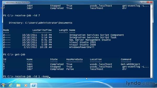 Manage job objects: PowerShell 3.0 for Administrators