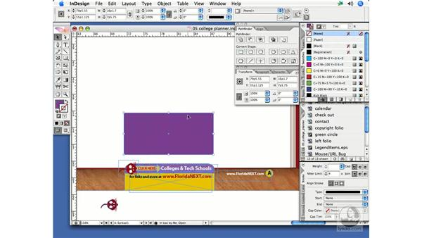 Creating shapes with Pathfinder: InDesign CS2 Print Project Workflow
