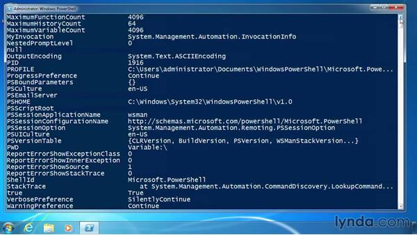 Use variables: PowerShell 3.0 for Administrators