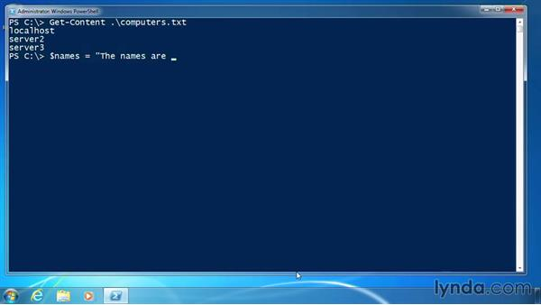 Use single and double quotes: PowerShell 3.0 for Administrators