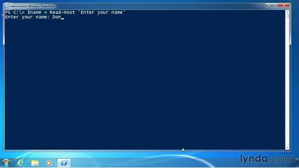 Prompt for user input: PowerShell 3.0 for Administrators