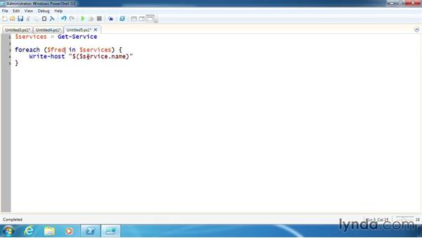 Use ForEach to enumerate objects: PowerShell 3.0 Scripting and Tool Making