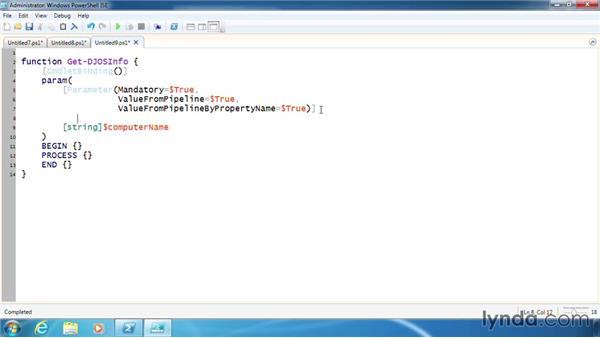 Declare parameters in a function: PowerShell 3.0 Scripting and Tool Making