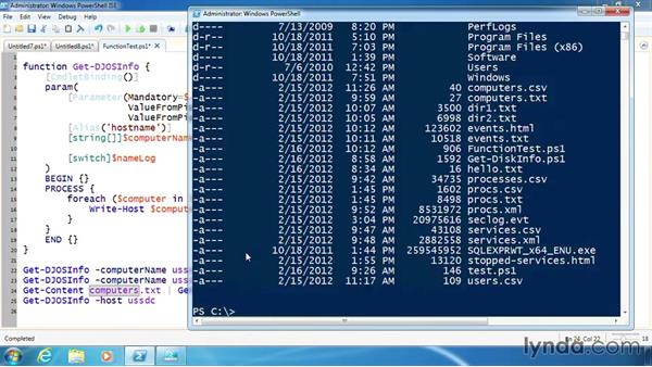 Test a function's parameters: PowerShell 3.0 Scripting and Tool Making