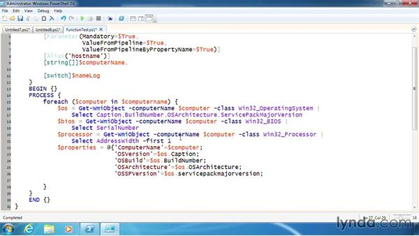 Write the main code for a function: PowerShell 3.0 Scripting and Tool Making