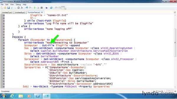 Test the completed function: PowerShell 3.0 Scripting and Tool Making
