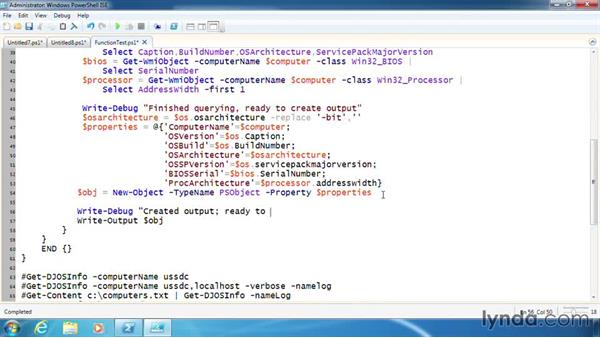 Add debugging features to a function: PowerShell 3.0 Scripting and Tool Making
