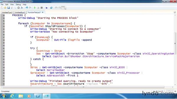 Add error handling to a function: PowerShell 3.0 Scripting and Tool Making