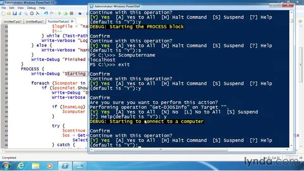 Add trace code to debug logic errors: PowerShell 3.0 Scripting and Tool Making