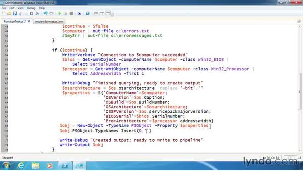 Add a type name to a custom output object: PowerShell 3.0 Scripting and Tool Making