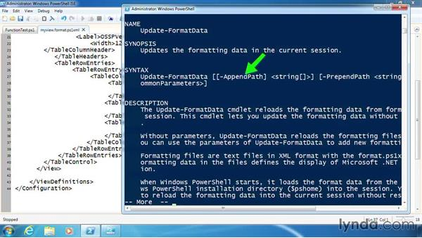 Create and use the XML view file: PowerShell 3.0 Scripting and Tool Making