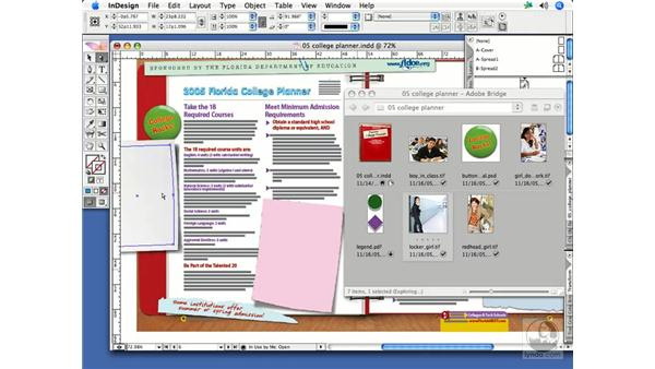 Drag and drop from Bridge: InDesign CS2 Print Project Workflow