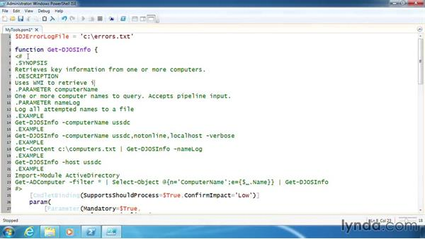 Create comment-based help in a module: PowerShell 3.0 Scripting and Tool Making