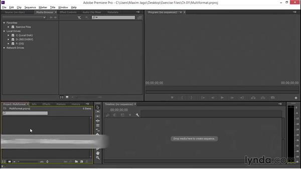 Working with multiformat media: EPK Editing Workflows 01: Ingest to Assembly Edit