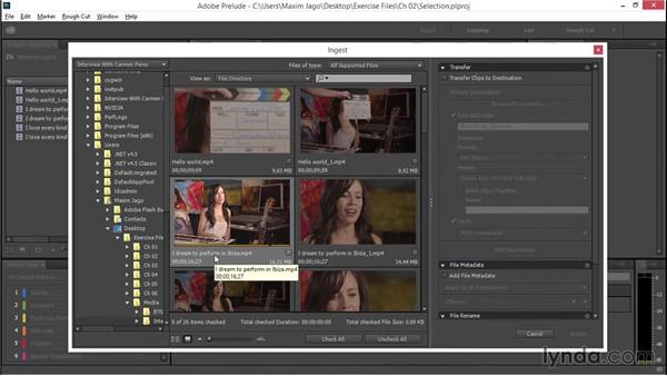 Making media selections and partial selections: EPK Editing Workflows 01: Ingest to Assembly Edit