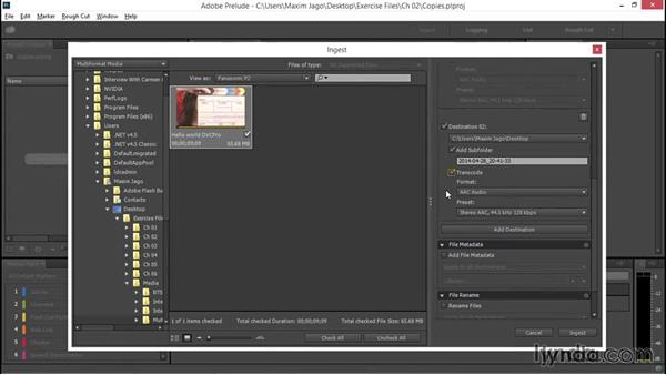 Producing multiple copies on ingest: EPK Editing Workflows 01: Ingest to Assembly Edit
