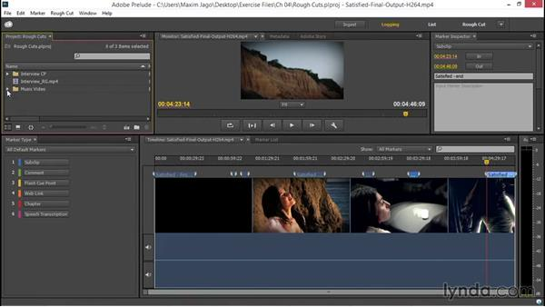 Building a rough cut in Adobe Prelude: EPK Editing Workflows 01: Ingest to Assembly Edit