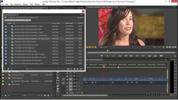 Preparing a simple rough cut in your nonlinear editor: EPK Editing Workflows 01: Ingest to Assembly Edit