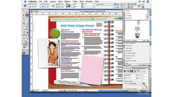 Applying and editing text wraps: InDesign CS2 Print Project Workflow