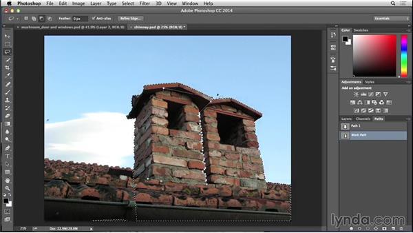 Adding a chimney to the mushroom house: Bert Monroy: Dreamscapes - Mushroom House