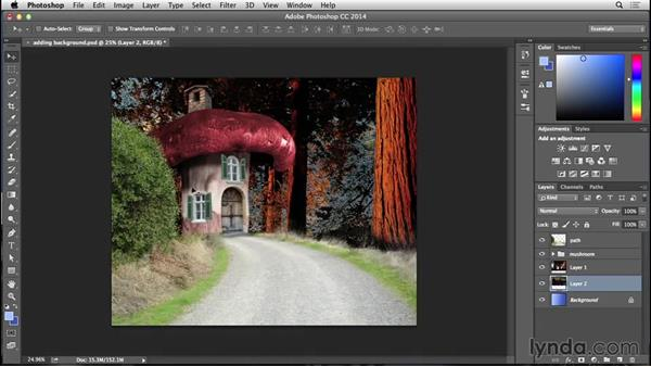 Adding in the countryside: Bert Monroy: Dreamscapes - Mushroom House