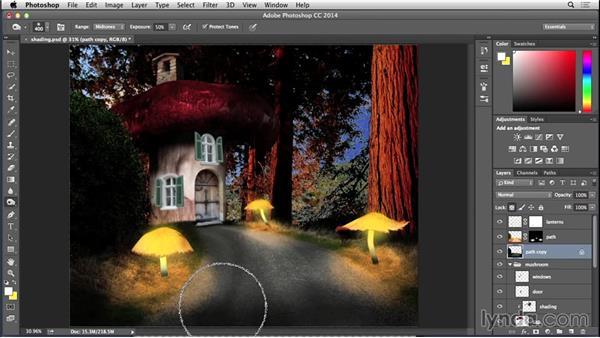 Lighting the path: Bert Monroy: Dreamscapes - Mushroom House