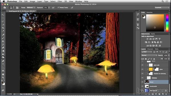 Adding the final touches: Bert Monroy: Dreamscapes - Mushroom House
