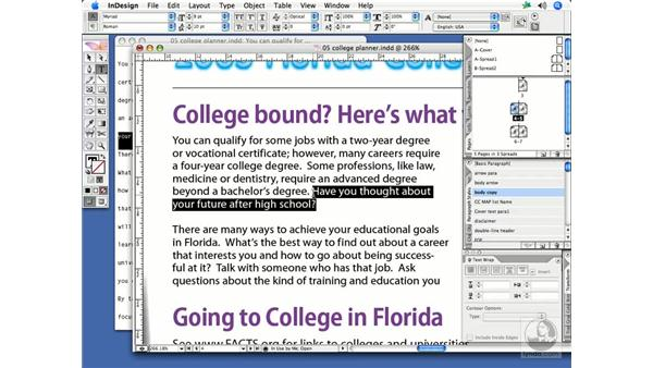 Drag-and-drop text editing: InDesign CS2 Print Project Workflow