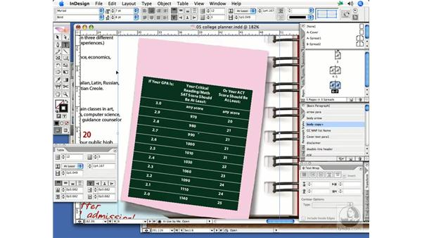 Formatting an imported Microsoft Word table: InDesign CS2 Print Project Workflow