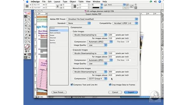 Exporting a PDF for review: InDesign CS2 Print Project Workflow
