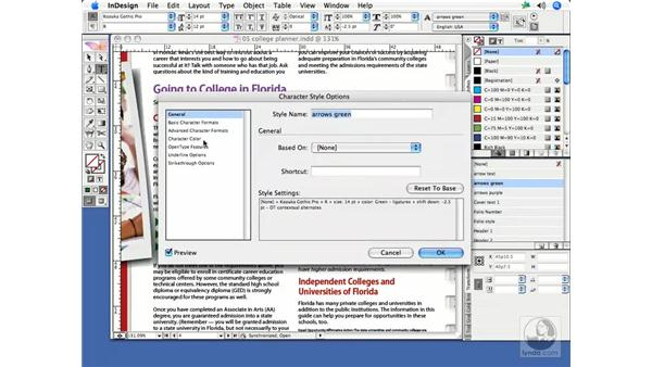 Style edits: InDesign CS2 Print Project Workflow